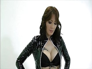 Goddess Zoey giving handjob to slave