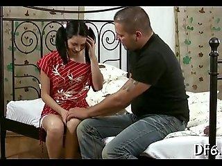 Dong inside virgin pussy