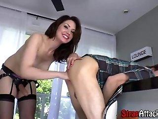 Domina strapon fucks ass