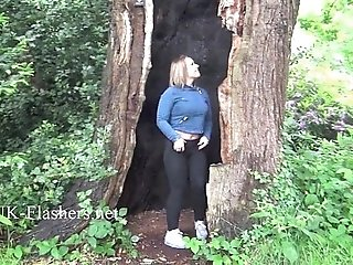 Sexy Ashley Rider flashing and voyeur babes showing perky tits in public
